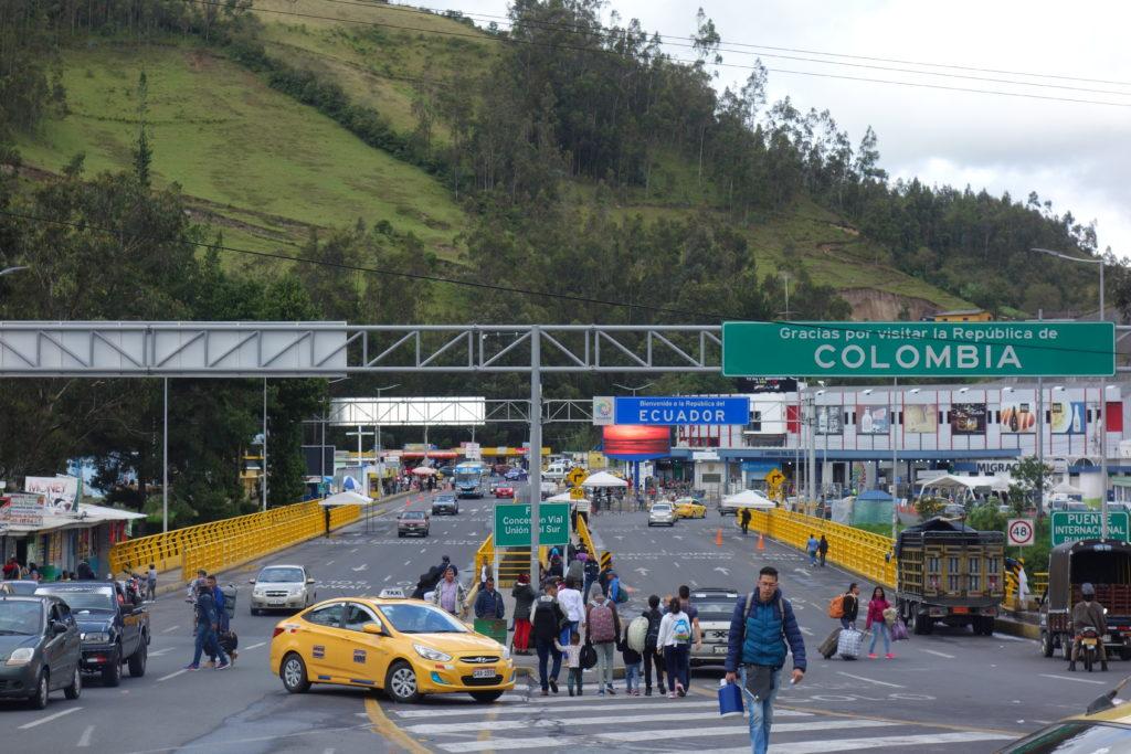 blog voyager seule frontière Colombie Equateur